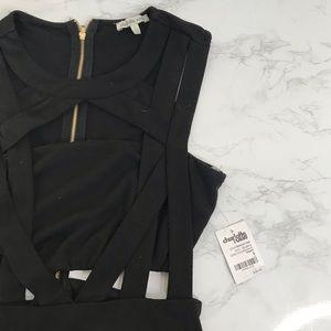 nwt black strappy dress